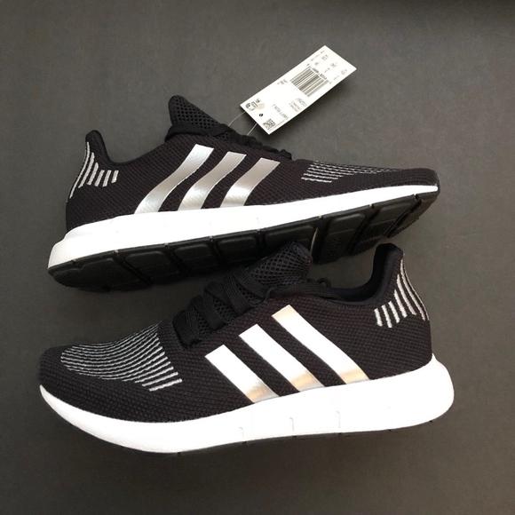 eafbdc6a8 Adidas Original Swift Run J (GS) Black   Silver